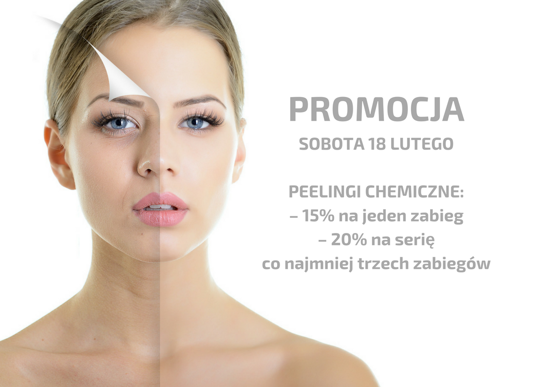 Promocja na peelingi chemiczne!